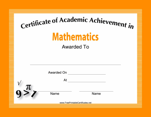 Mathematics Academic