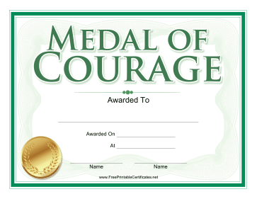 Medal of Courage Award