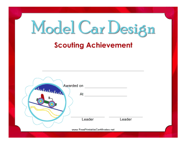 Model Car Design Badge