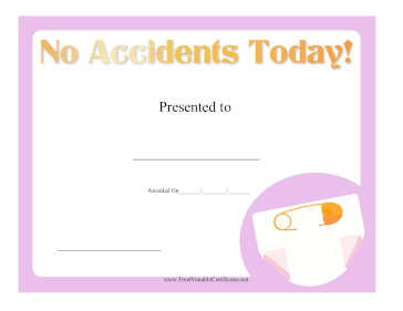 No Accidents Today
