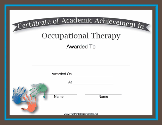 Occupational Therapy Academic