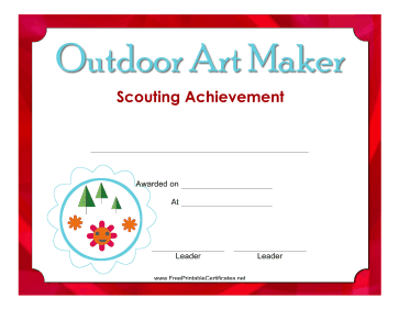 Outdoor Art Maker Badge