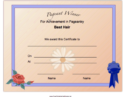 Pageant Best Hair Achievement