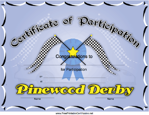 Pinewood Derby Participation