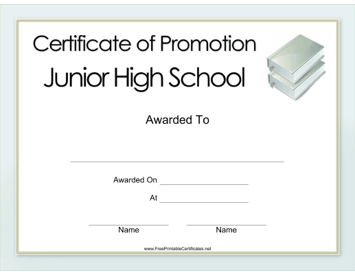 Junior High School Promotion
