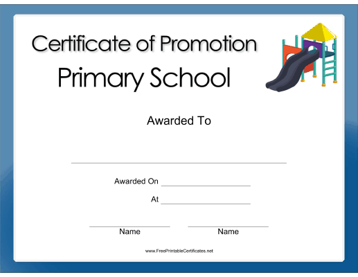 Primary School Promotion