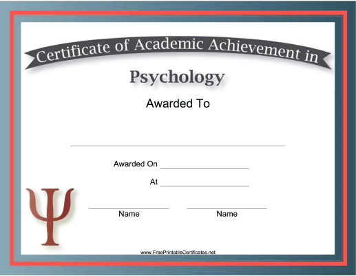 Psychology Academic