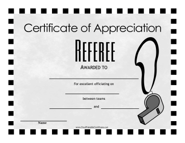 Referee Award
