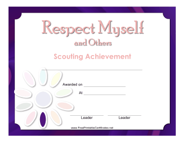 Respect Self Others Badge