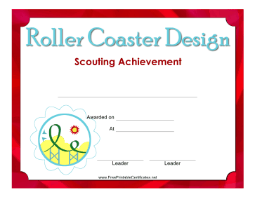 Roller Coaster Design Badge