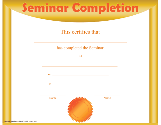 Seminar Completion