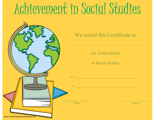 Achievement in Social Studies
