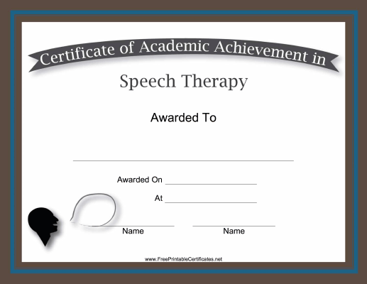 Speech Therapy Academic