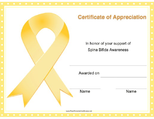 Spina Bifida Awareness Ribbon