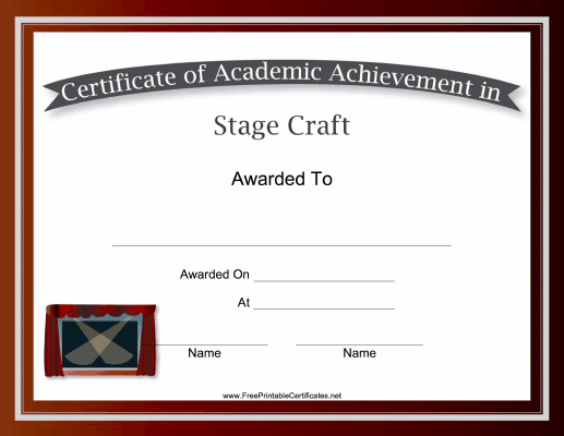 Stage Craft Academic
