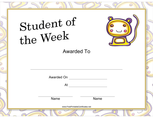 Student of the Week Whimsical