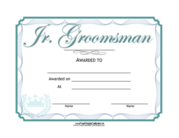Wedding Junior Groomsman