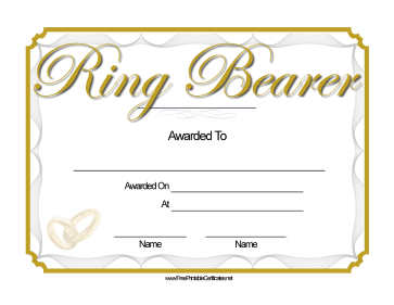 Wedding Ring Bearer