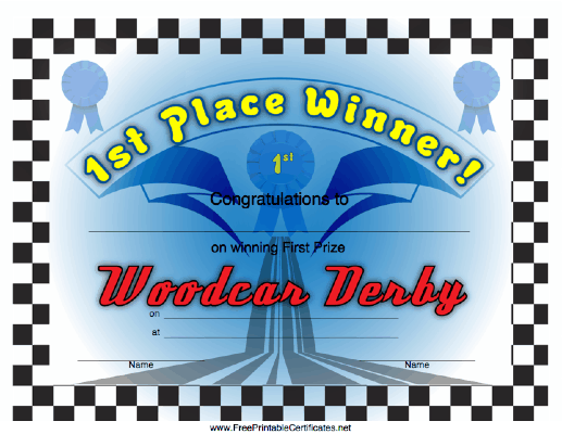 Woodcar Derby 1st Place
