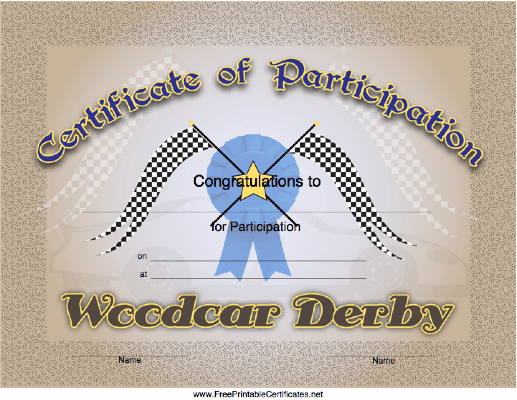Woodcar Derby Participation