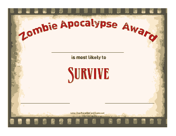 Zombie Award Survive