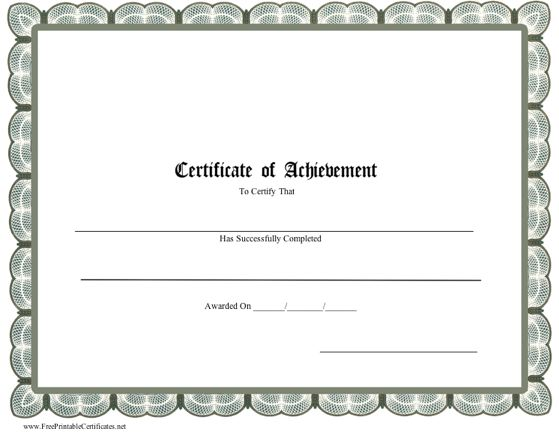 Professional Certificate of Achievement