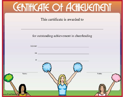 Cheerleading Achievement
