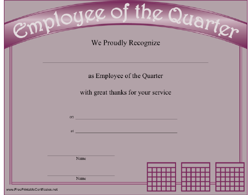 Employee of the Quarter