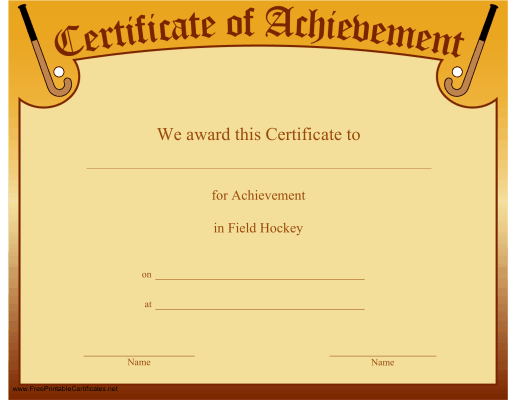 Achievement in Hockey
