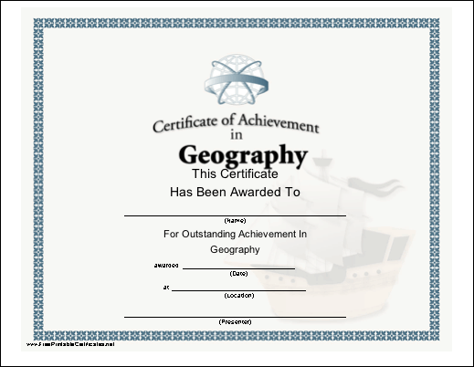 Geography Achievement