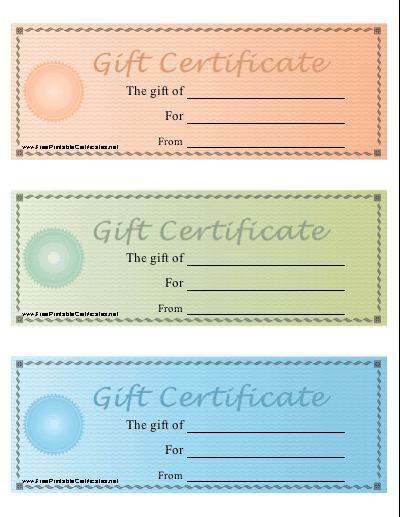Gift Certificate - Colors