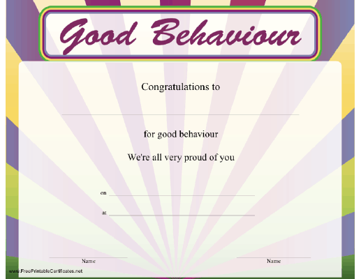 Good Behaviour