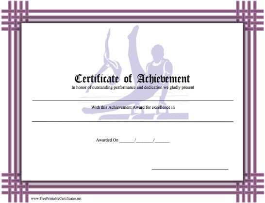 Achievement - Gymnastics
