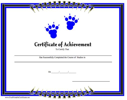 Achievement - Paw Prints