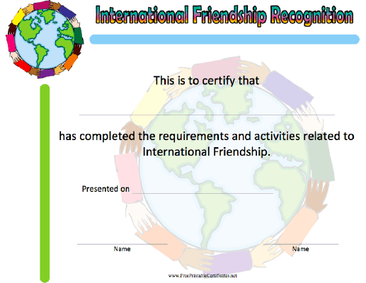International Friendship Recognition