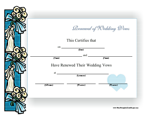 Renewal of Wedding Vows