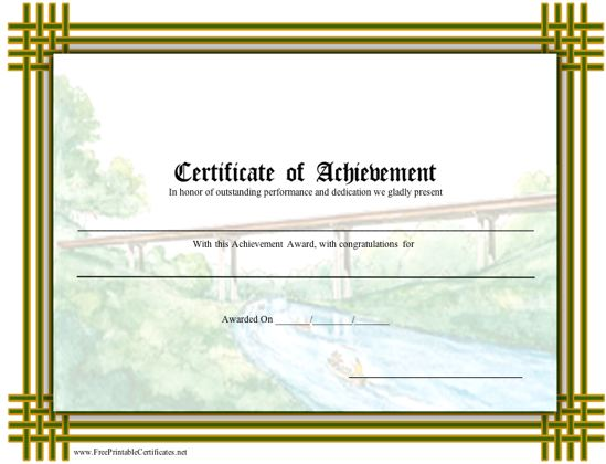 Achievement - Scouts Bridging