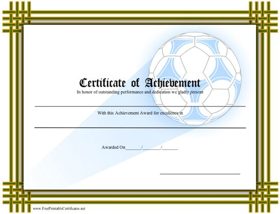 Achievement - Soccer