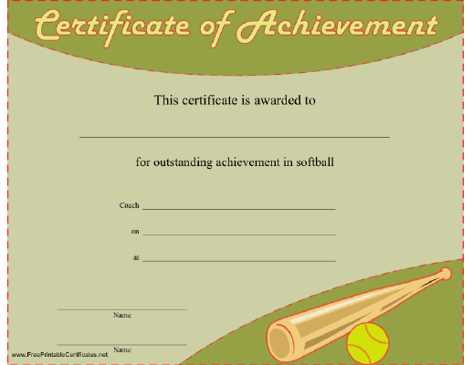 Softball Achievement
