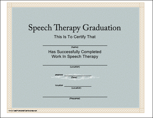Speech Therapy Graduation