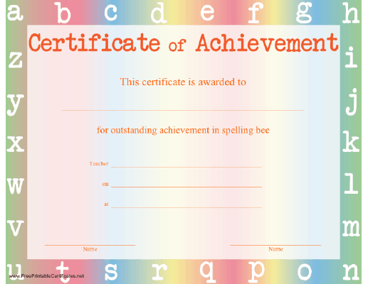 Spelling Bee Achievement