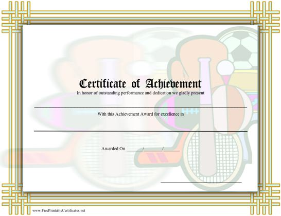 Achievement - Sports