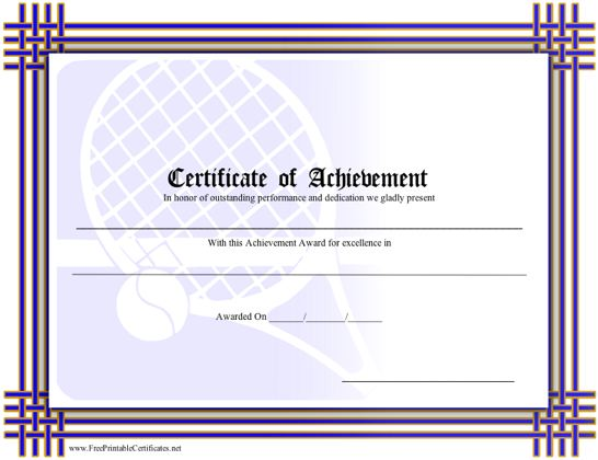 Achievement - Tennis