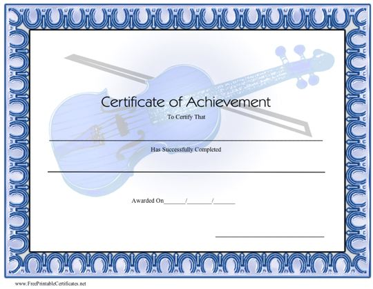 Achievement - Violin