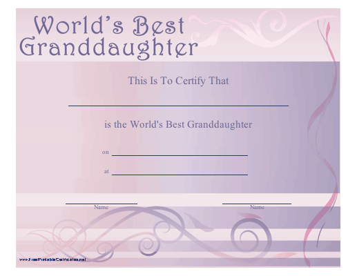World's Best Granddaughter