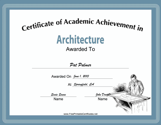 Architecture Academic certificate