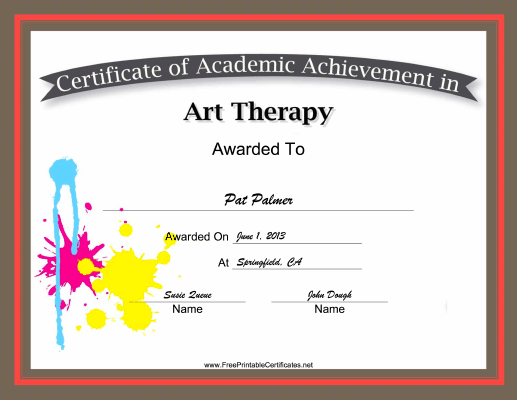 Art Therapy Academic certificate