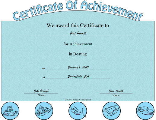 Boating certificate