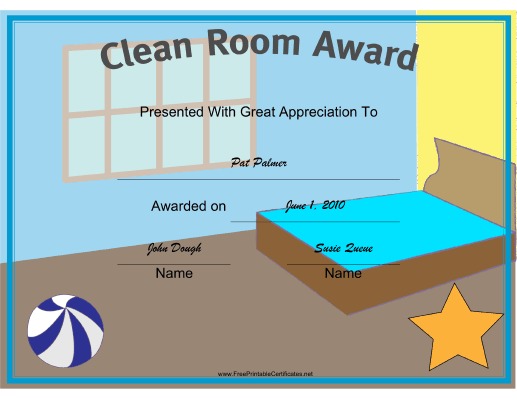 Clean Room certificate