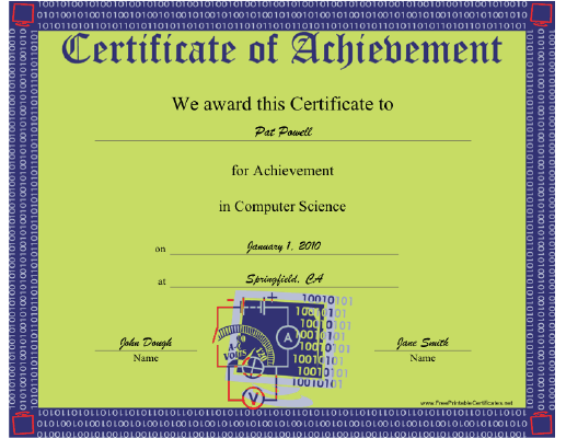 Computer Science certificate